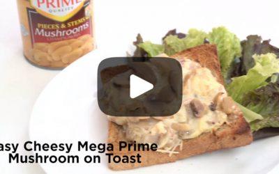 Easy Cheesy Mega Prime Mushroom Toast
