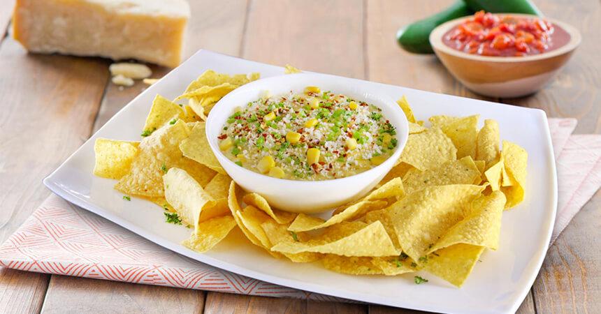 cheesy corn brule dip