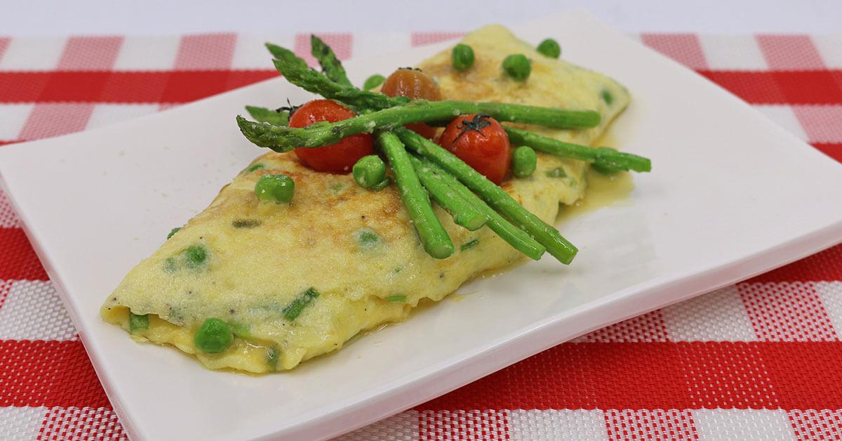 green peas omellette