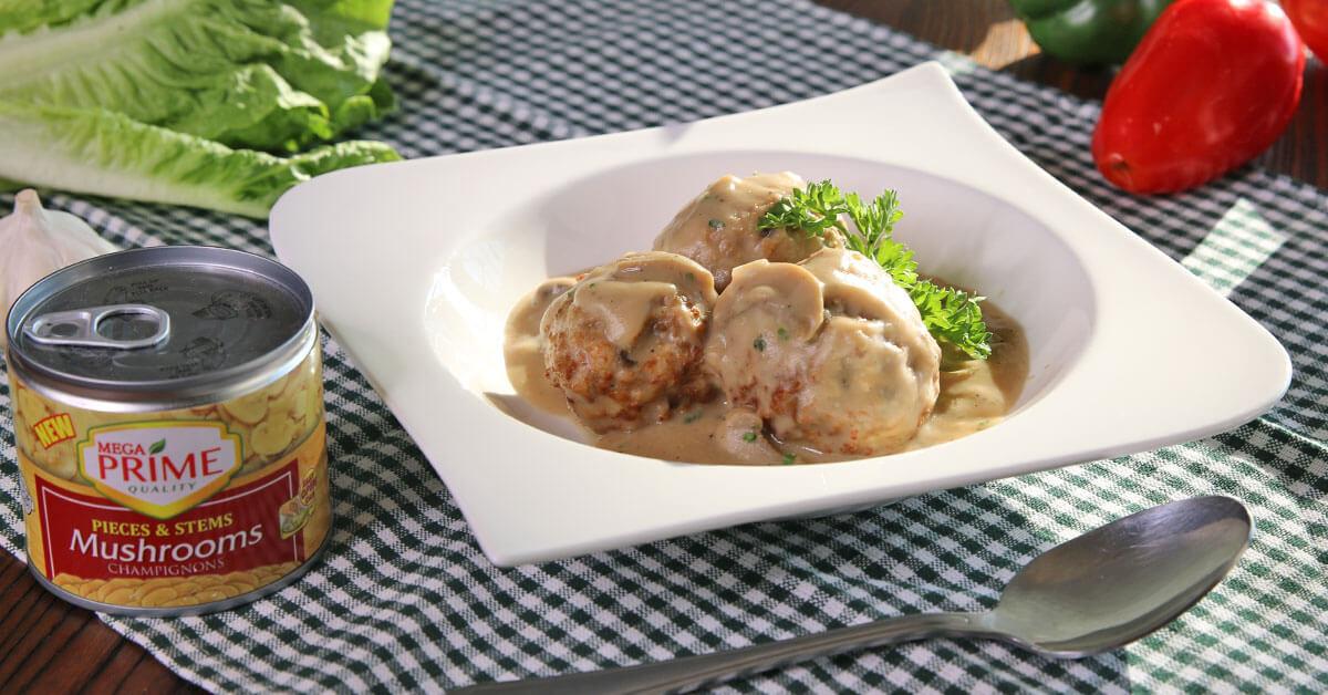 Pork and Mushroom Meatballs