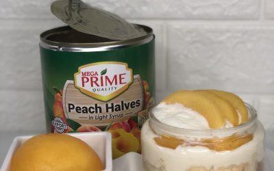Peaches Cheesecake Jar