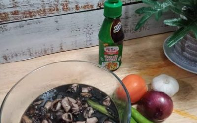 Adobong Pusit in Oyster Sauce